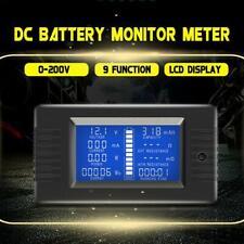 100a Dc Digital Monitor Lcd Volt Amp Watt Meter Batterie Solar Power Analysator