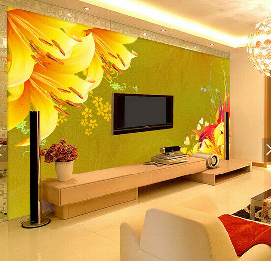 3D Lily Flower 559 Wallpaper Murals Wall Print Wallpaper Mural AJ WALL AU Kyra