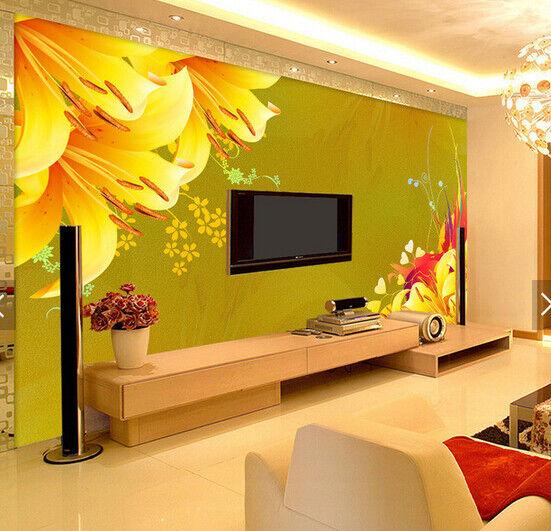 3D Lily Flower 559 Wallpaper Murals Wall Print Wallpaper Mural AJ WALL AU Kyra