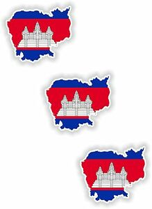 3x-Cambodia-Map-Flag-Stickers-Silhouette-With-Flag-for-Helmet-Laptop-Tablet