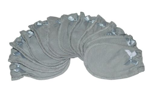 6 Pairs Cotton Newborn Baby//infant No Scratch Mittens Gloves Soft Gray
