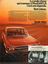 Publicité Advertising 1971  AUDI NSU 100 LS