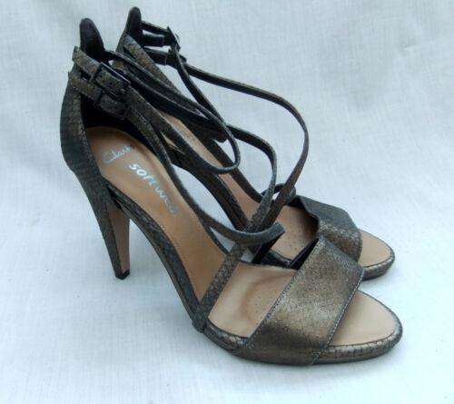 Sarong 41 5 5 sandali Nuovi Clarks Size Curtain Womens 7 pelle in bronzo FwXffxqag