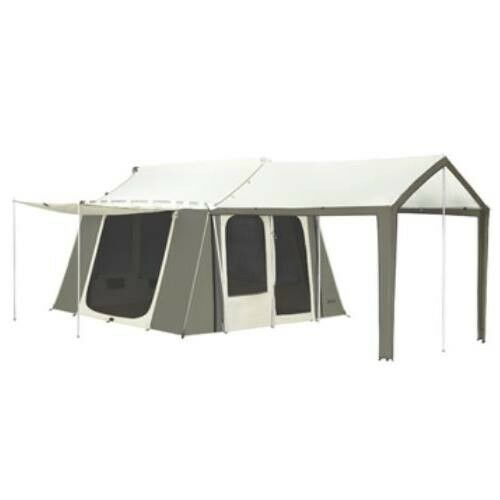 Kodiak 6133 Canvas 12ft x 9ft Tents - 6 Person Cabin Tent w/ Deluxe Awning  Scout