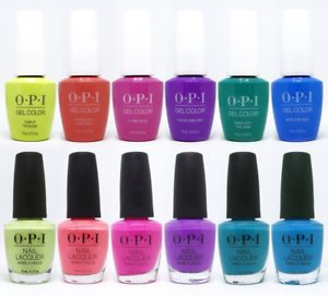 opi neon collection summer 2019 gelcolor gel polish  nail