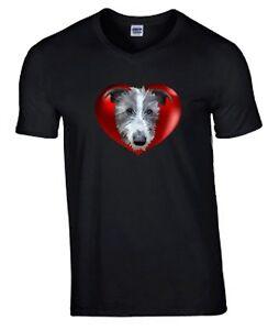 Hairy-Lurcher-Hound-Tshirt-T-shirt-V-or-Crew-Neck-Birthday-Gift