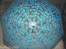 BETSEY JOHNSON BLUE UMBRELLA GRAFFITI BUBBLE STICK NWT VERY AWESOME UMBRELLA