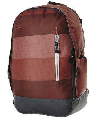 BRAND NEW +TAG BILLABONG 'RIDGE' LARGE BACKPACK SCHOOL UNI BAG 23 LITRE DEEP RED