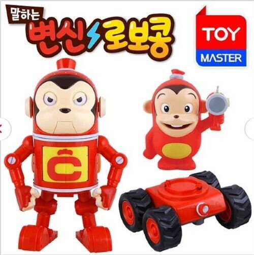 Cocomong hablando Transformer Robocong con Mini Monkey figura Corea Juguetes _ Mu