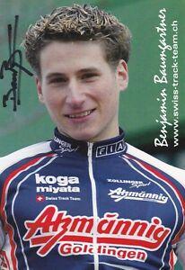 CYCLISME-carte-cycliste-BENJAMIN-BAUMGARTNER-equipe-ATZMANNIG-Goldingen-signee