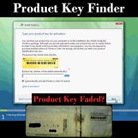 Microsoft Windows 7, 8, 8.1, 10 Cd Dvd Re-install Professional Code, Key Finder