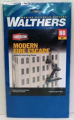 HO Scale Walthers 933-3736 Modern Fire Escape Kit