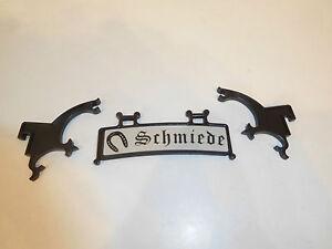 Playmobil-Ritterburg-Schild-schmiede-blacksmith-mit-Halterung-3442-original