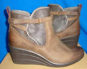55353f01288 Details about UGG Australia EMALIE Stout Waterproof Leather Ankle Boots  Size US 8 NIB #1008017