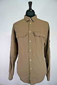 Men-s-REI-Vented-Hiking-Fishing-Travel-Shirt-Button-Down-Long-Sleeve-Size-XL