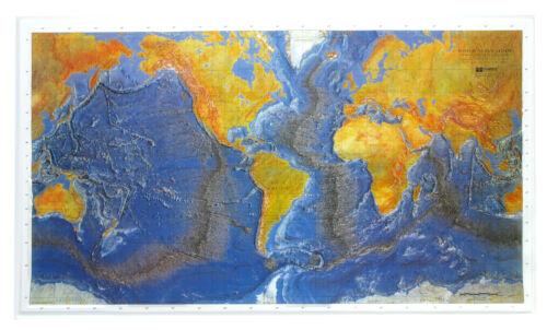 3D Relief-Weltkarte Ocean Floor Querformat 99,5x60cm #100399