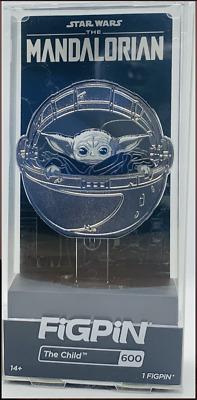 LOT FiGPiN Disney Silver Chrome Mandalorian 599 The Child 600 Walmart Exclusive
