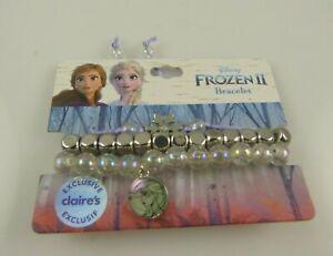 Disney-Frozen-2-Anna-Elsa-beaded-charm-bracelet-silvertone