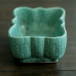 Brush-Pottery-Teal-Speckled-Planter-McCoy-Pottery