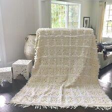 New Style Moroccan Wedding Blanket, Handmade Handira with Sequins