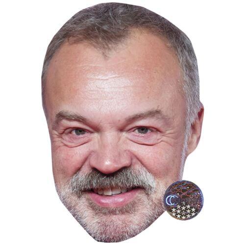 Celebrity Mask Beard Graham Norton Card Face and Fancy Dress Mask
