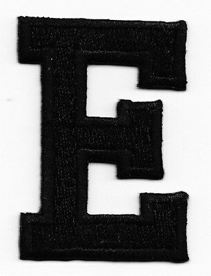 """1 7//8/"""" - Iron On Embroidered Applique Patch WHITE BLOCK LETTER /""""H/"""" LETTERS"""