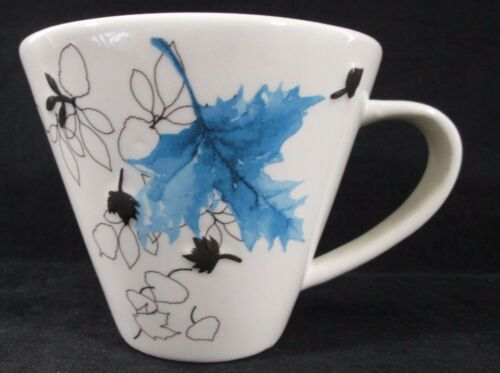 "RARE Starbucks 2007 ""Blue Autumn Leaves"" 10oz Cup Leaf Mug"