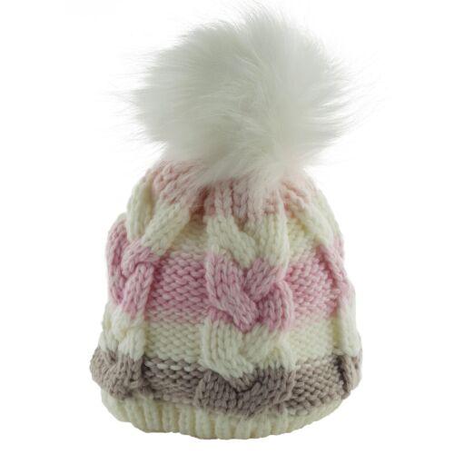 Newborn Kids Baby Boy Girl Pom Hat Winter Warm Crochet Knit Bobble Beanie Cap