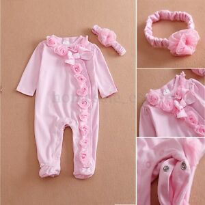 afe147b682f53 Pink Reborn Clothing 22'' Newborn Baby Girl Doll Clothes Jumpsuits ...
