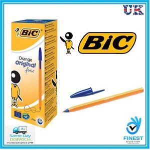 BiC-Orange-Original-Fine-Lead-Ballpoint-Pen-Black-Pack-of-20-Free-Delivery
