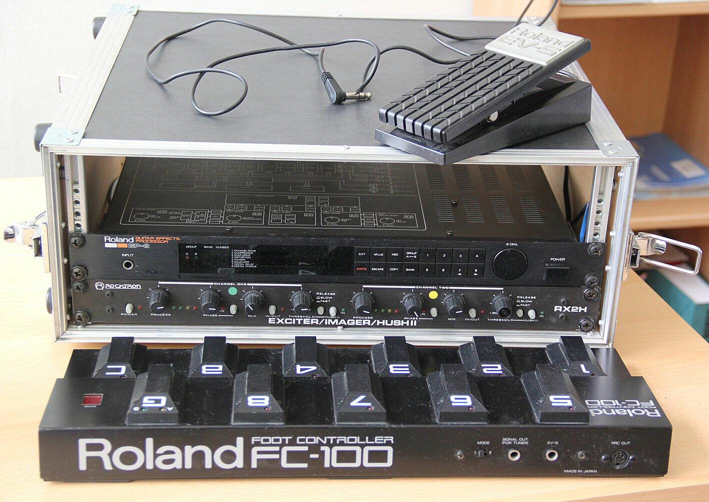 Effectsprocessor Roland GP-8 und Rocktron RX2H im Rack 19  Flightcase 4 HE