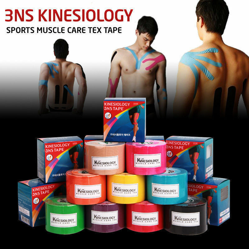 Premium 3NS Kinesiology Sports Muscle Care Tex Tape - 5 rolls / 9 Farbes