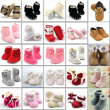 Newborn Baby Infant Toddler Boy Girl Snow Boots Crib Shoes Prewalker Booties LOT