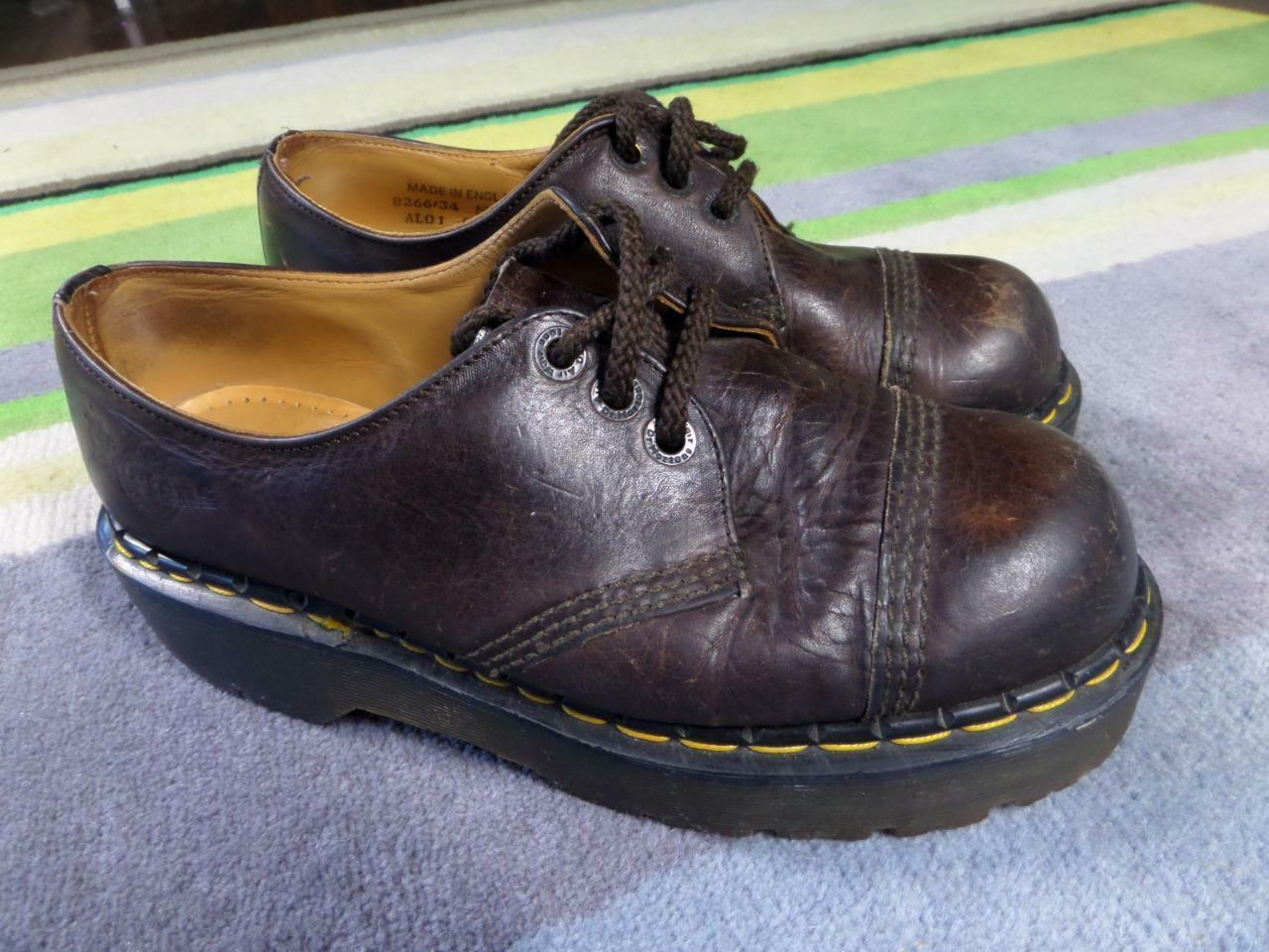 Dr Martens Aire Wair zapatos (mujeres 9, para hombres 8 EE. UU.) Marrón