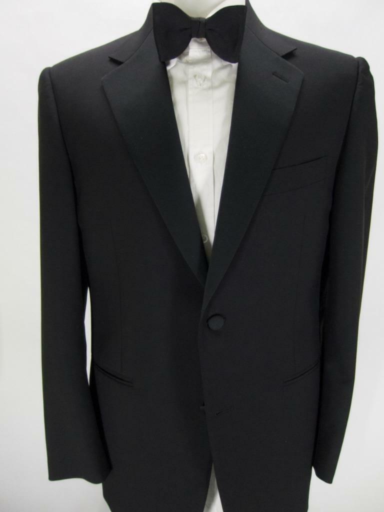 Recent CANALI wool SB 1B notch lapel tuxedo suit FF pants US 40 R LKNW! B94