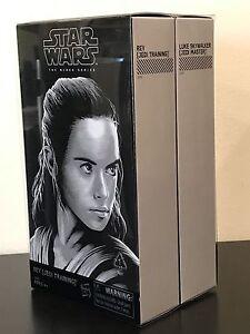 Habro Star Wars Sdcc 2017 La Série Noire Figurine 6 Pouces Luke Skywalker & Rey Je
