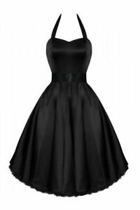 RKH9-Hearts-amp-Roses-Satin-Rockabilly-Dress-Pin-Up-Vintage-50s-Party-Prom-Swing