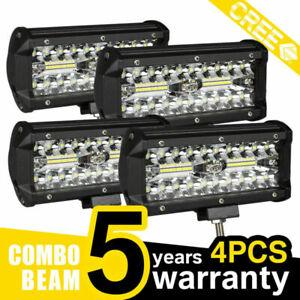 4X-120W-LED-LUCE-FARO-12V-24V-LAMPADA-DA-LAVORO-FARETTO-AUTO-BARCA-CAMION-KLW-SU