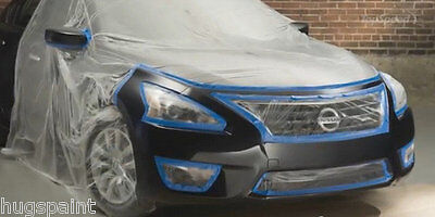 MASKING FILM 4M X 150M CLEAR POLYTHENE SHEETING CAR PLASTIC COVER STATIC PAINT