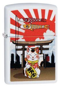 Zippo-Lucky-Cat-Design-Windproof-Pocket-Lighter-214-078383