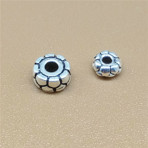 20 Sterling Silver Small Donut Spacer Beads for 925 Silver Bracelet Necklace