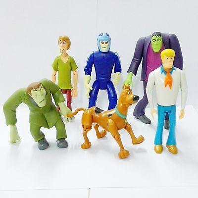 Scooby Doo FRIENDS & FOES 6PCS Action Figure GHOST RACER Redbeard VILLAINS HA338