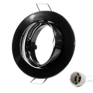 Telaio-di-Montaggio-GU10-Anello-a-Incasso-Decken-Spots-LED-Nero