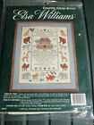 """Elsa Williams Counted Cross Stitch Kit Two by Noahs Ark Sampler 02079 16x20"""" SIP"""