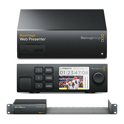 Blackmagic Web Presenter W Teranex Mini Smart Panel Mini Rack Shelf Ebay