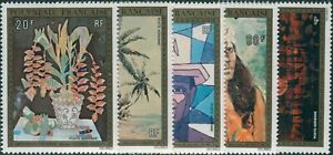 French-Polynesia-1974-Sc-C107-C111-SG189-193-Paintings-set-MNH