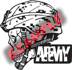 PICK-SIZE-Vinyl-Decal-US-Army-Skull-Military-Helmet-Sticker-Window-Glass
