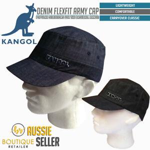KANGOL-Denim-Army-Cap-Flexfit-Military-Cadet-Patrol-Style-Baseball-Hat-5067BC