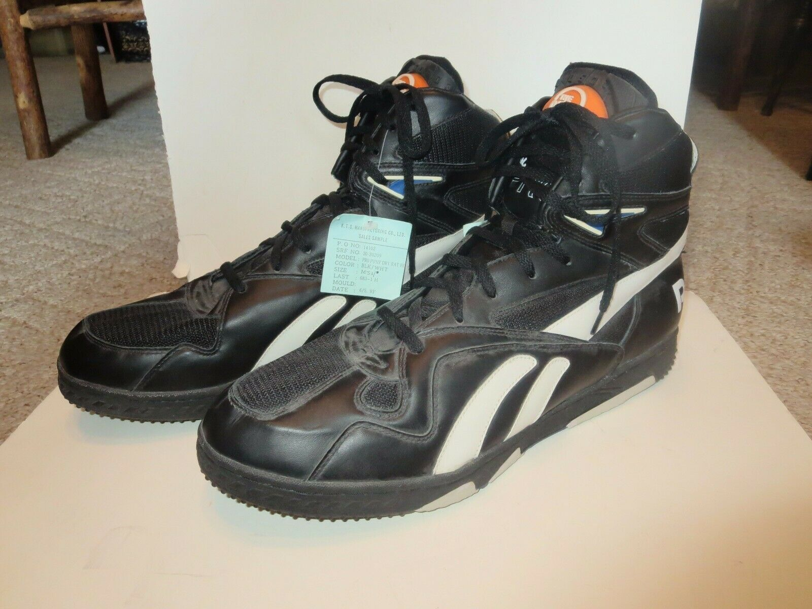 Vintage Reebok  The Pump  Sales Sample Basketball shoes Size 17 USA Dated 1993
