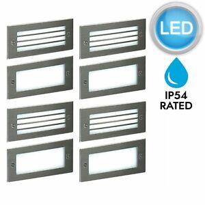 Set-of-4-Modern-Outdoor-Stainless-Steel-Garden-Recess-Wall-LED-Brick-Light-IP54